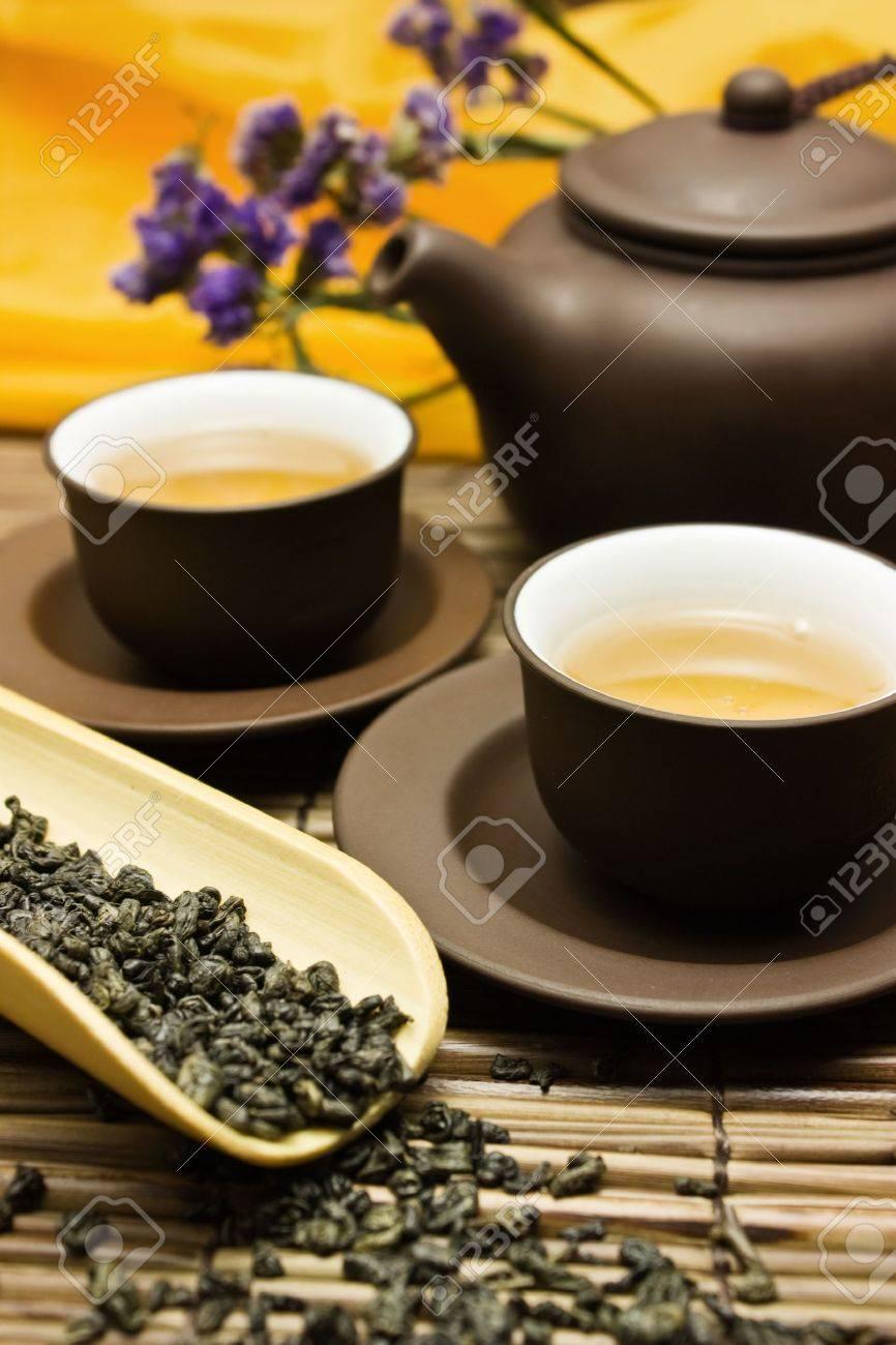 Asian tea set. Stock Photo - 3749299