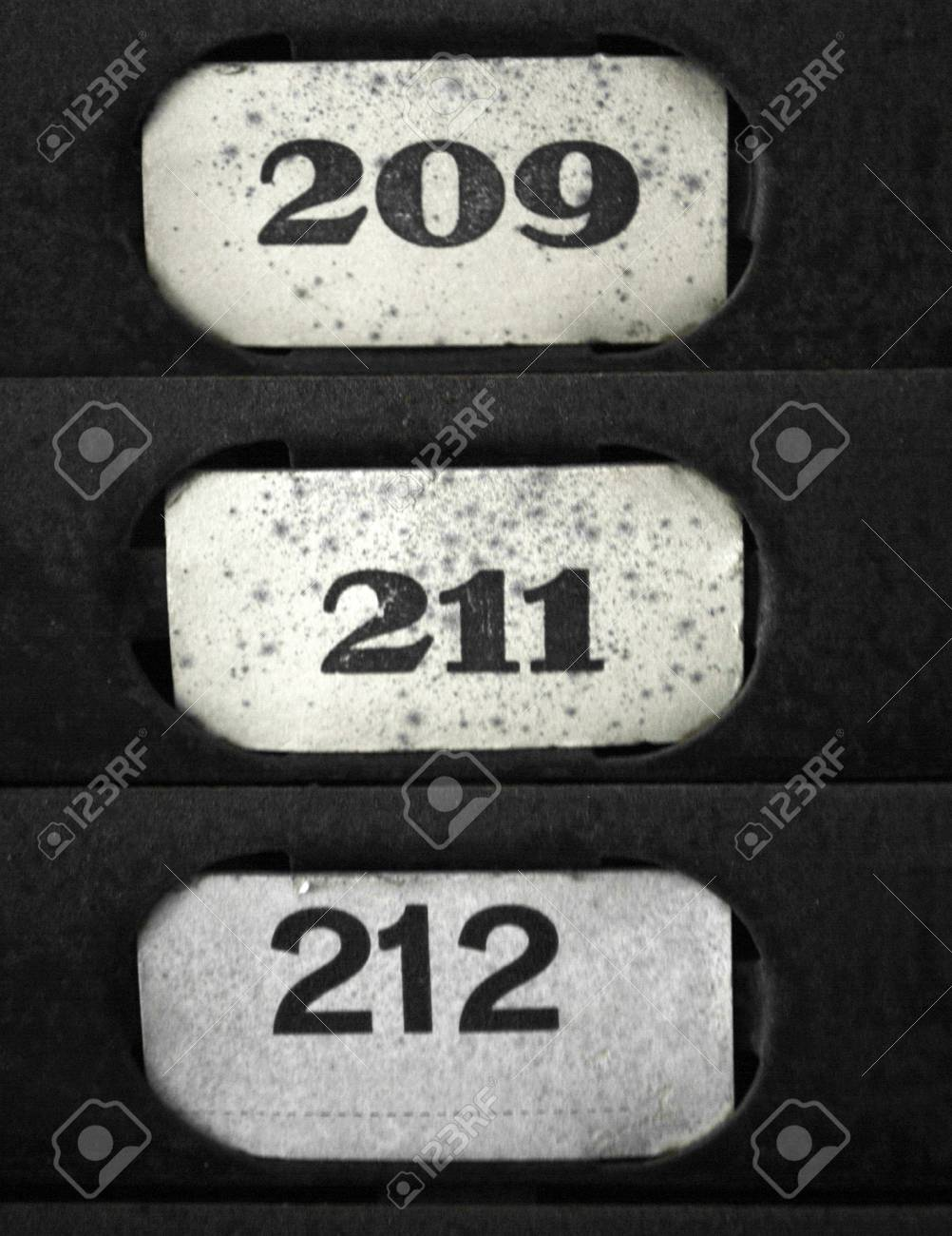 plate numbers in sequence Stock Photo - 7688929