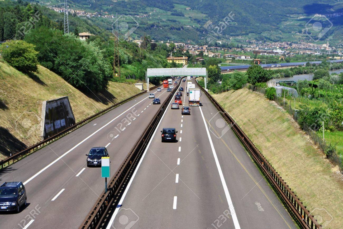 asphalt highway traffic fast Stock Photo - 8954915