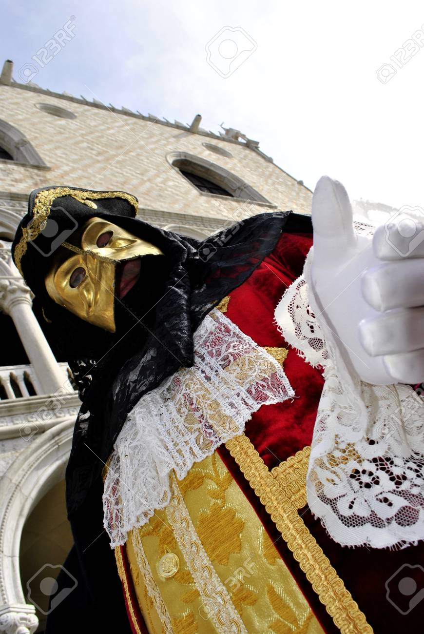 Carnival of Venice, colorful masks and artistic Stock Photo - 9018046