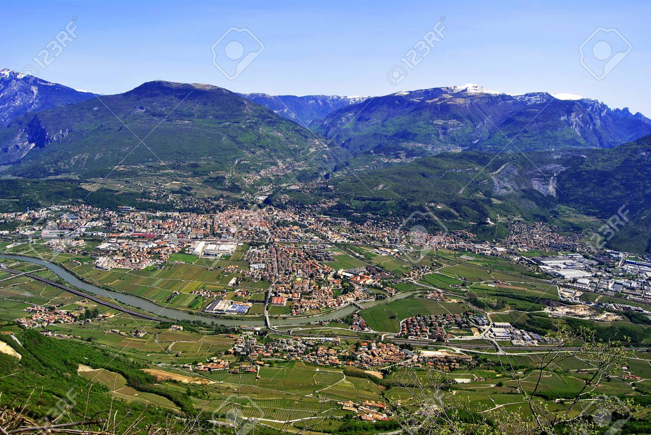 over the valley in the spring, city forests and meadows Stock Photo - 9299757