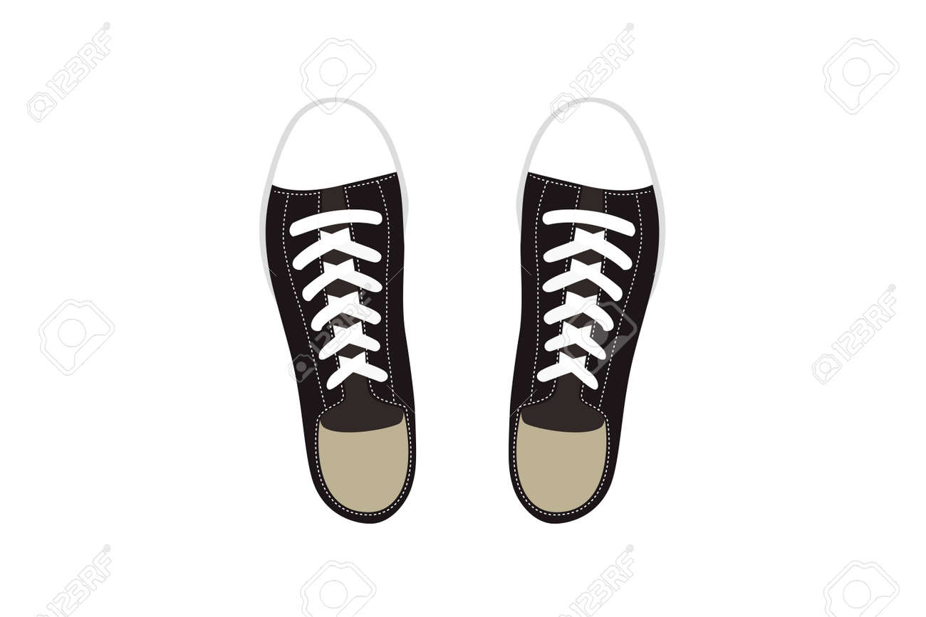 Illustration of Casual Black Sneakers. - 149219290