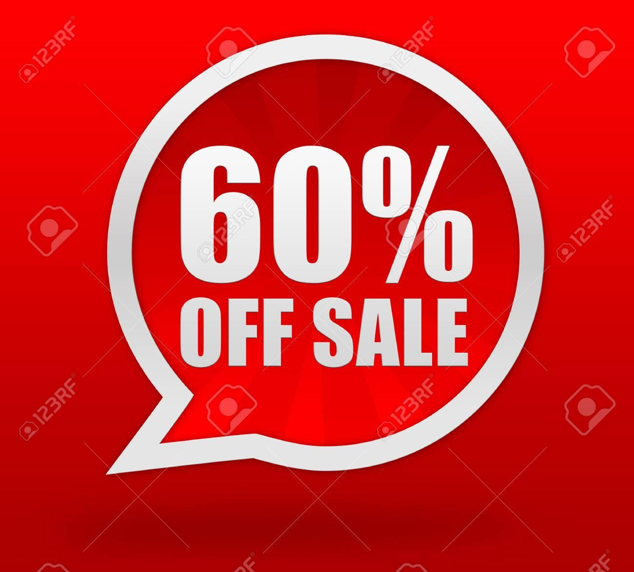 b997bca07 60% off sale badge 3d illustration isolated on background Stock  Illustration - 62849289