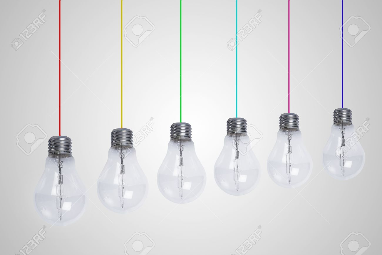 Colored Wire Lamp Center Origami Weapon Diagrams Http Freemoviechcom 16 Origamisword Light Bulb Lamps With Wires A Background Stock Photo Rh 123rf Com Desk