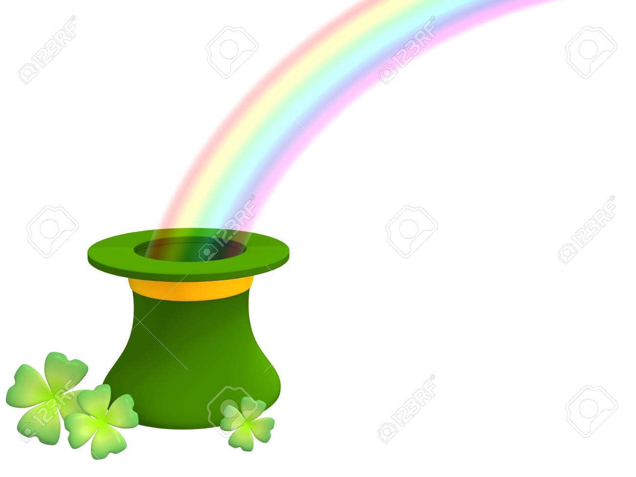 The rainbow growing from a green hat Stock Photo - 2847023
