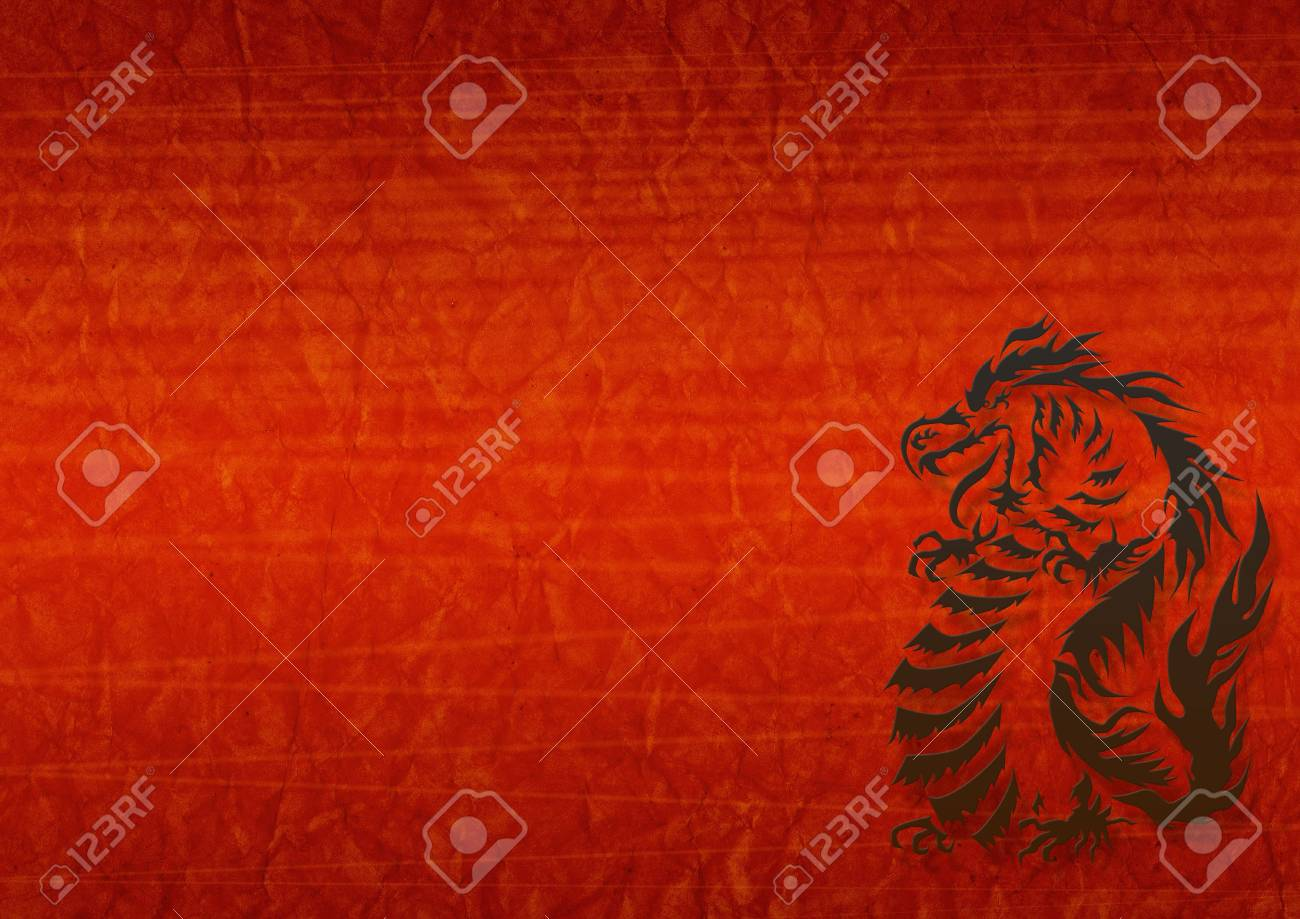 Abstract grunge background with a black dragon Stock Photo - 3306274