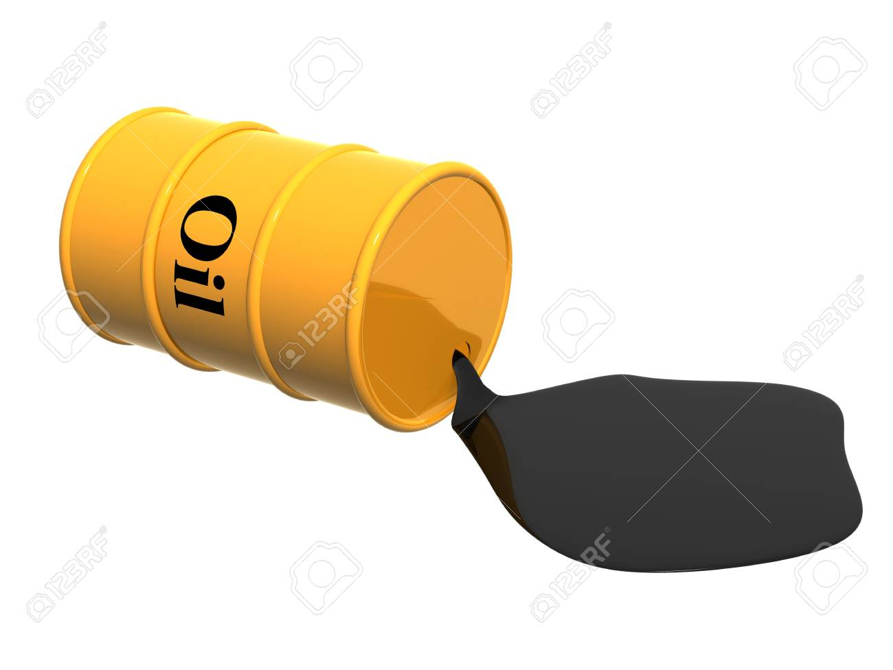 The oil following from flanks. Object over white Stock Photo - 3508484