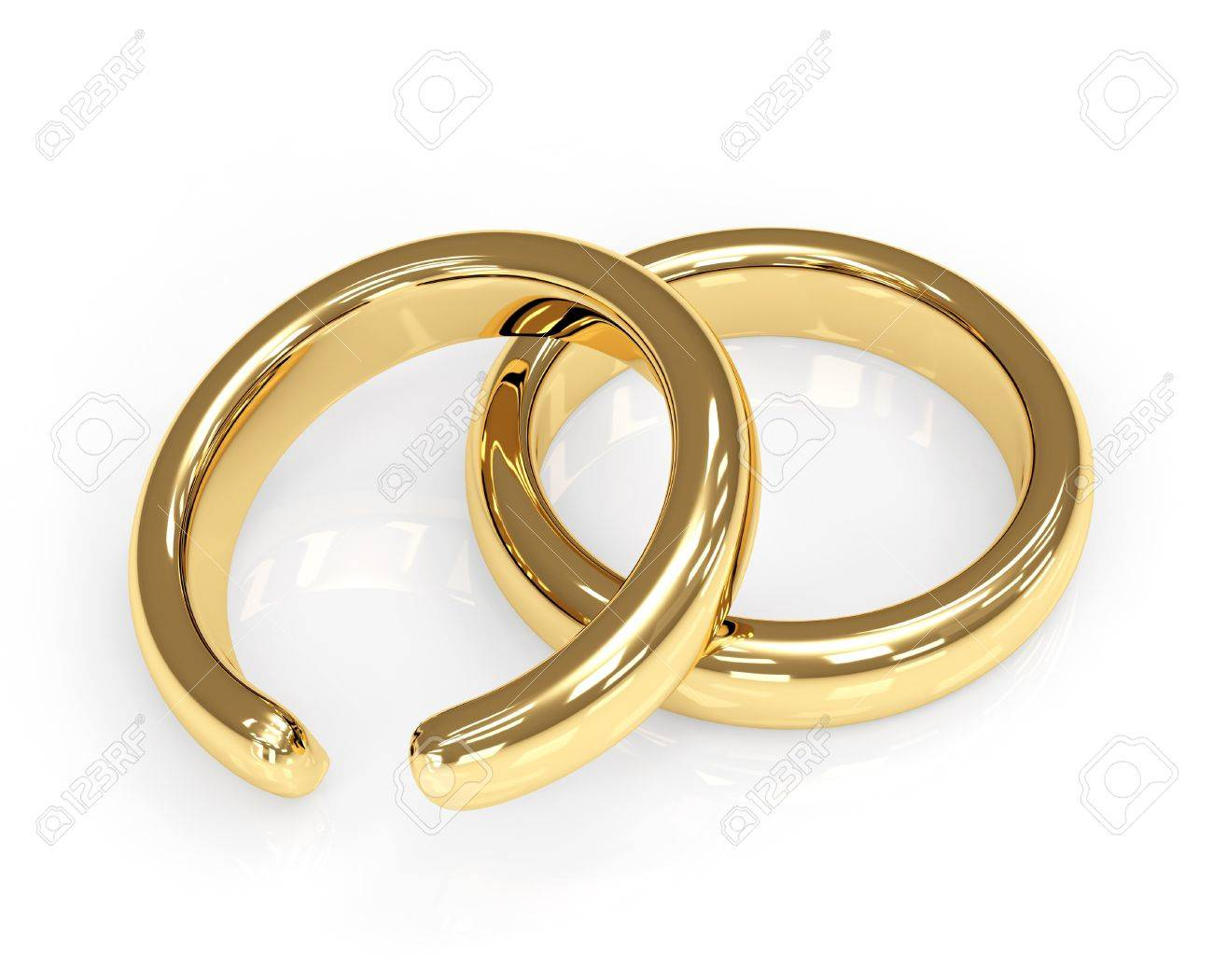 Symbol Of Divorce Broken Wedding Ring Stock Photo Picture And