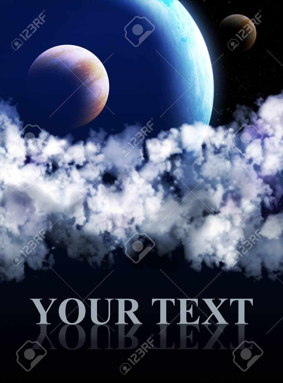 Illustration - a fantastic beautiful galaxy Stock Illustration - 4631148
