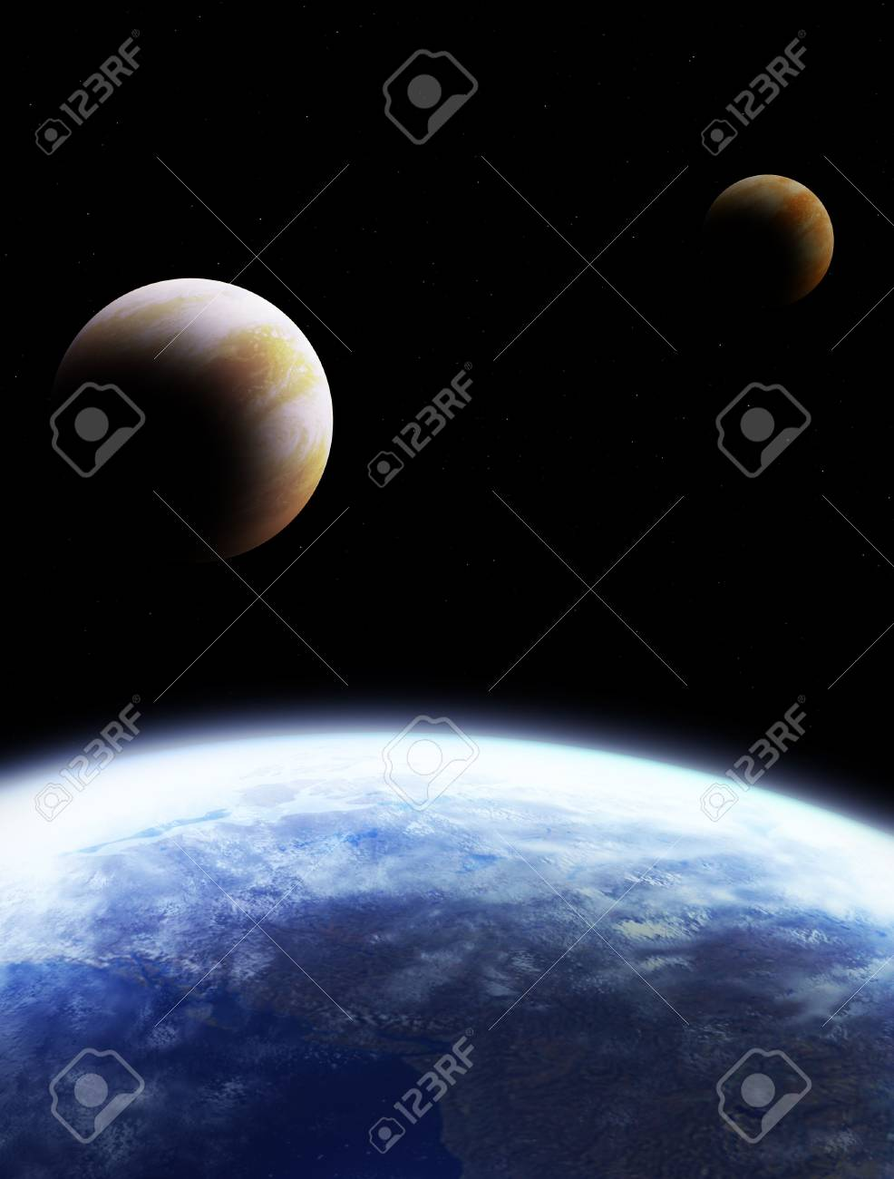Kind of the Earth from space, on a black background Stock Photo - 4763714