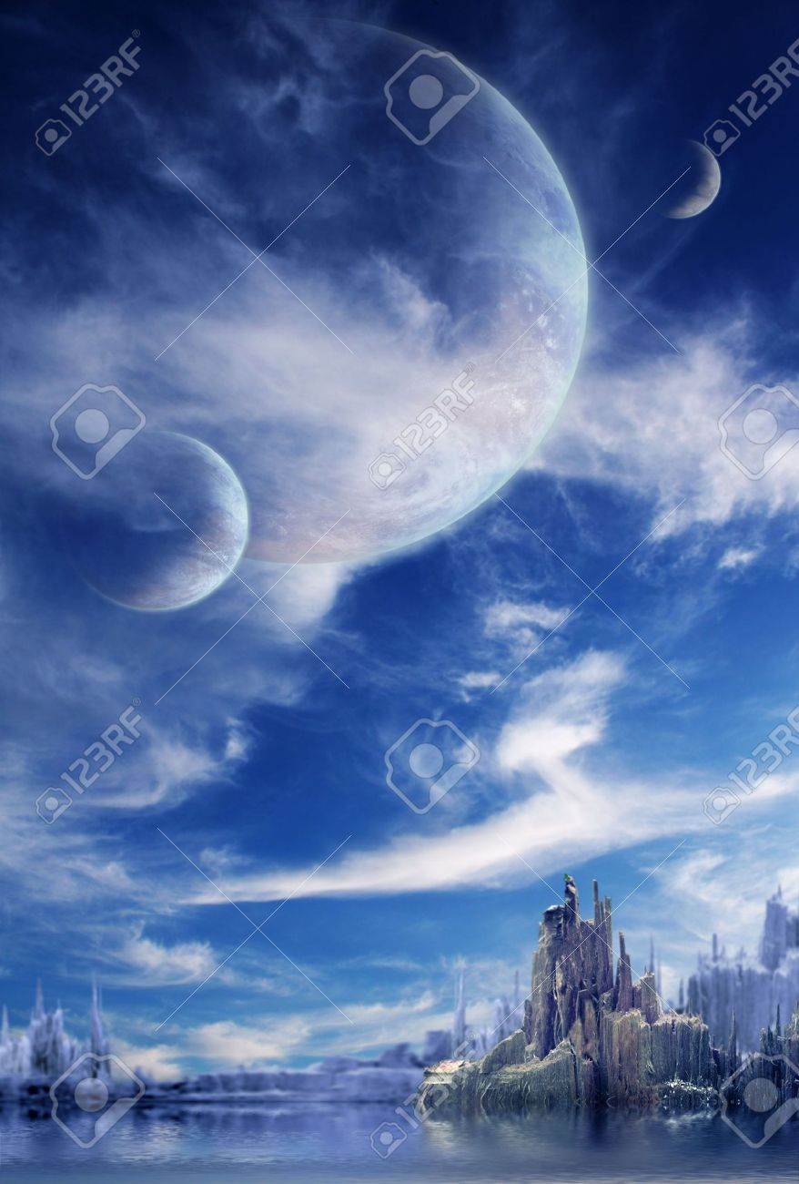 Collage - landscape in fantasy planet Stock Photo - 6335769