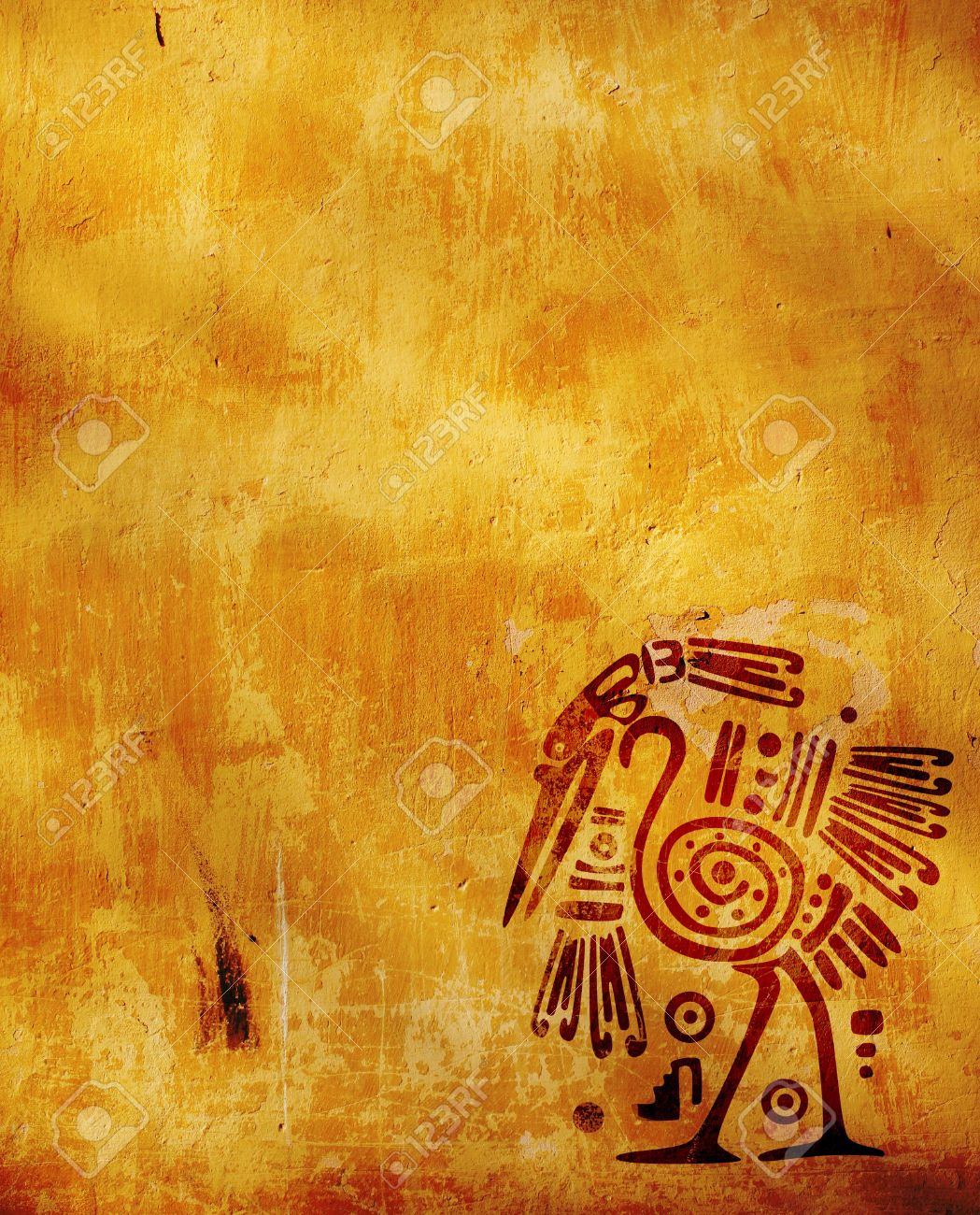 Vertical background with American Indian national patterns Stock Photo - 6757623