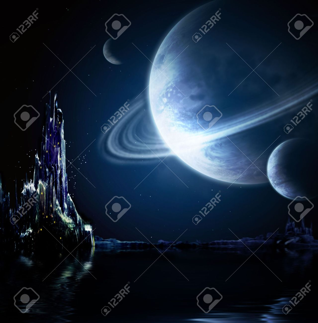 Collage - landscape in fantasy planet Stock Photo - 6821969