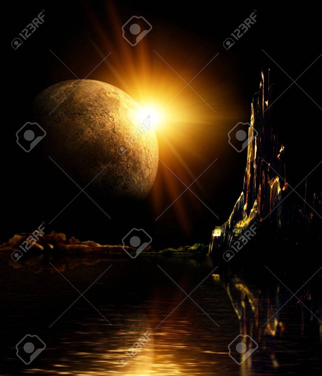 Collage - landscape in fantasy planet Stock Photo - 7045578