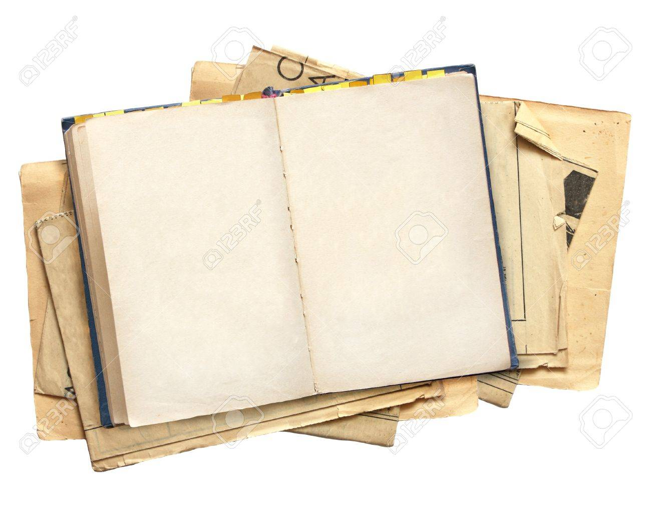 Old book. Objects isolated over white Stock Photo - 7663910