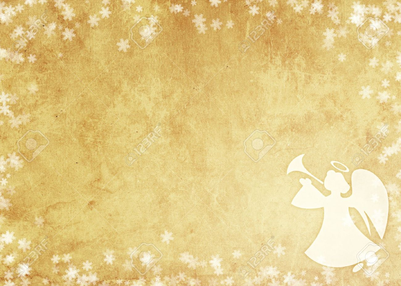 Angels Christmas Background.Christmas Grunge Background With Angel Paper Texture