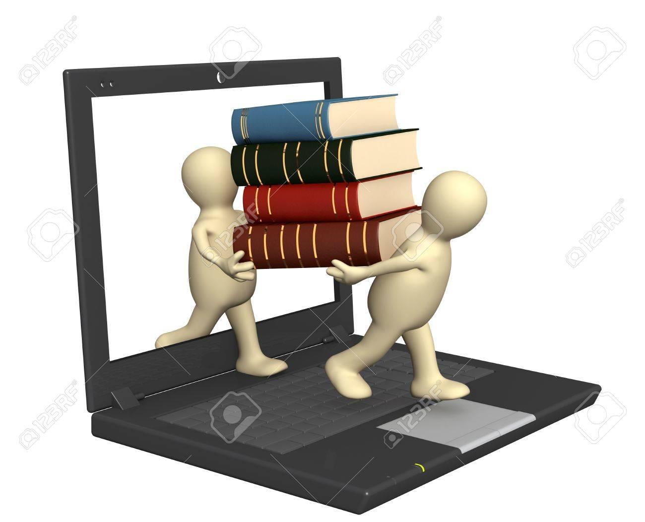 Conceptual image - library online. 3d render - 8814868