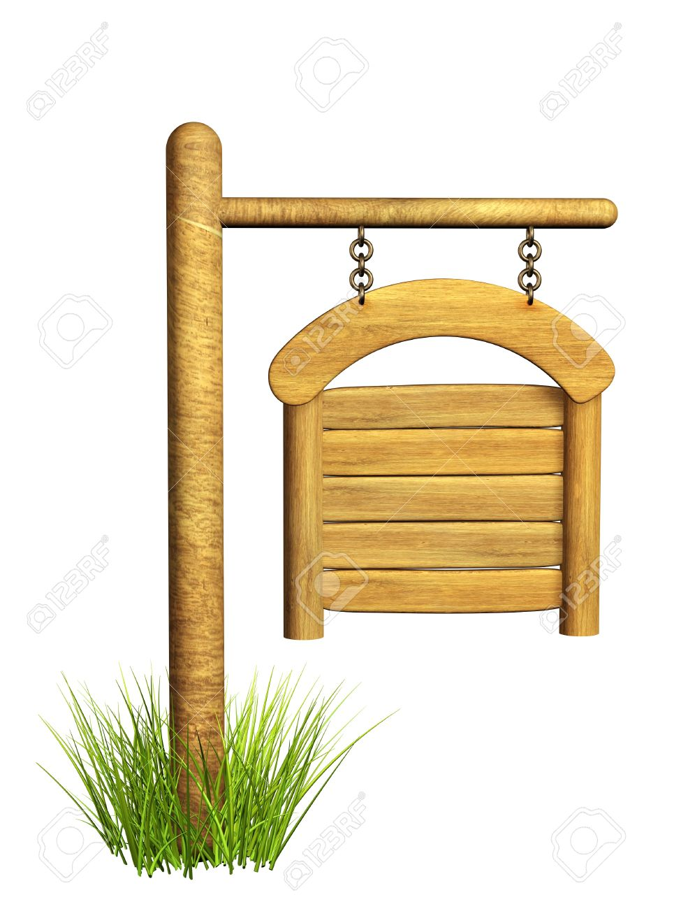 Wooden signboard. Object isolated over white Stock Photo - 8948528