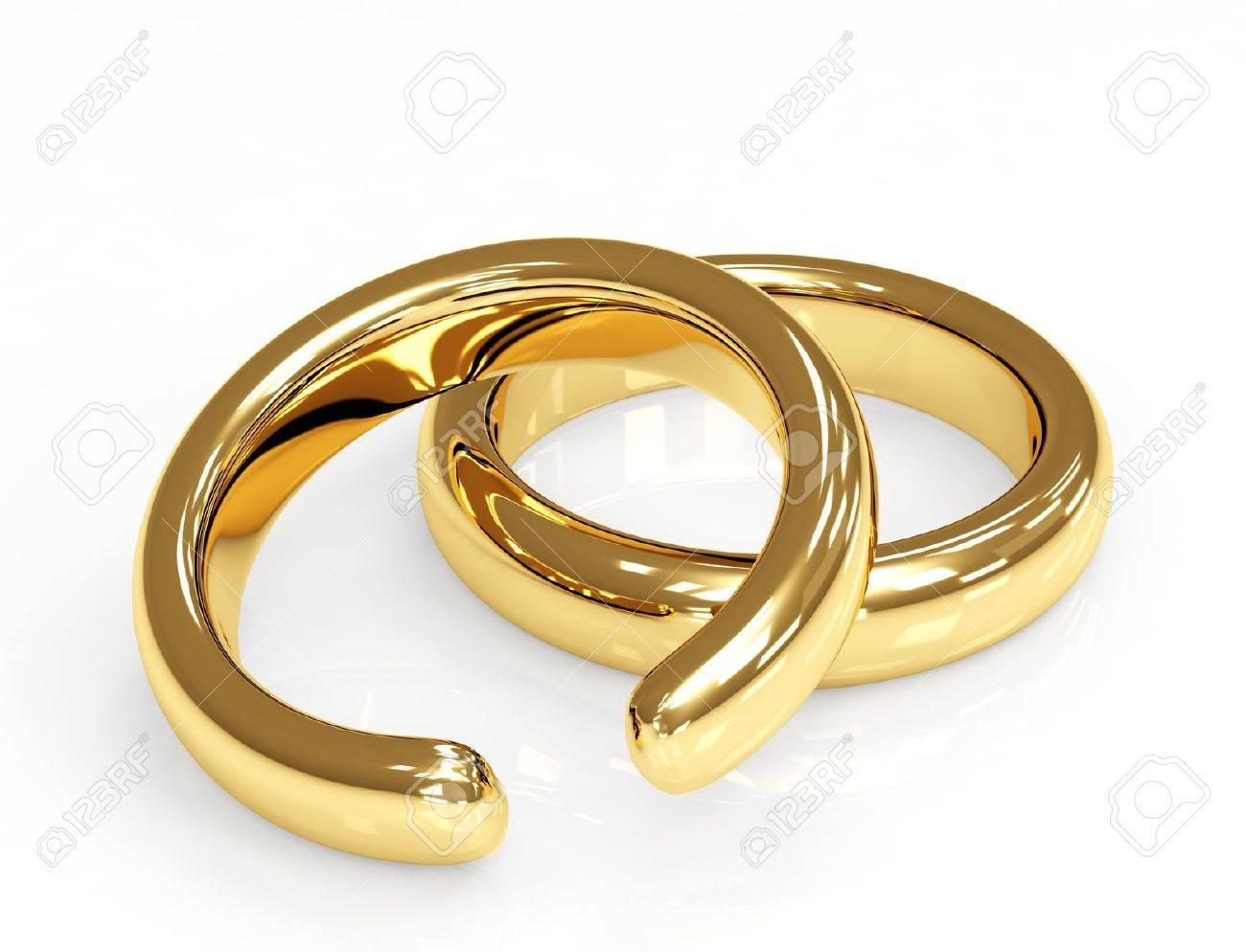 Symbol of divorce - broken wedding ring - 8948599