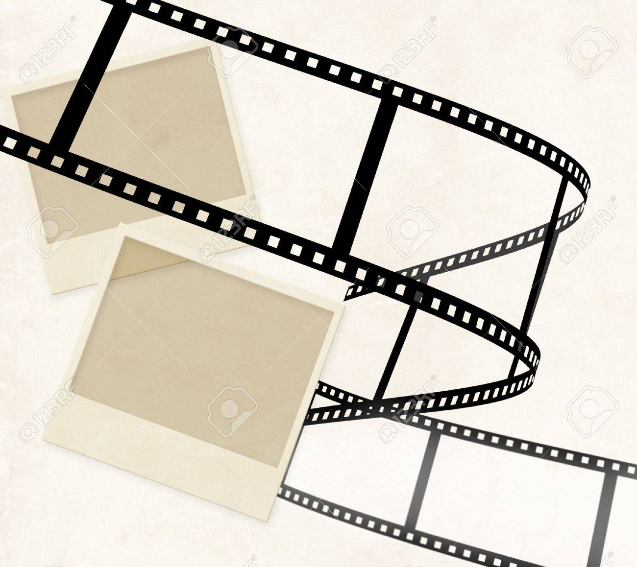 Grunge background with old photo and filmstrip Stock Photo - 9156239