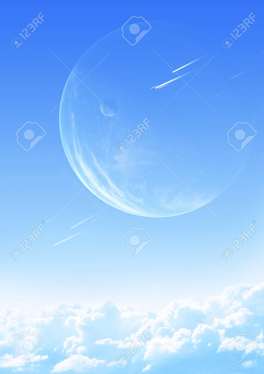 Collage - sky in alien planet Stock Photo - 9589247
