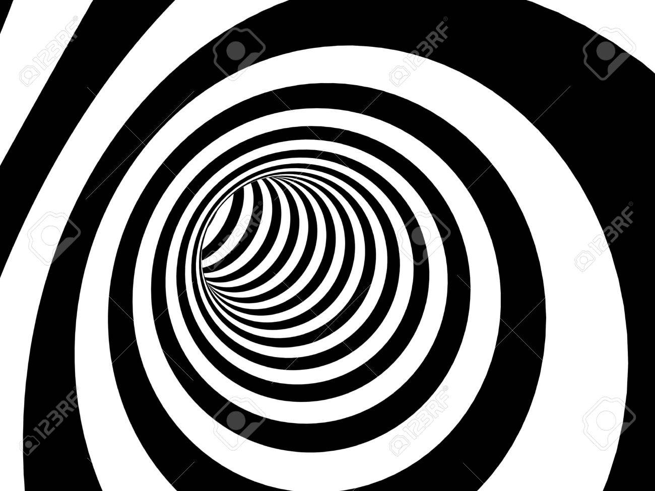 Abstract illusion. Black and white Stock Photo - 9877698