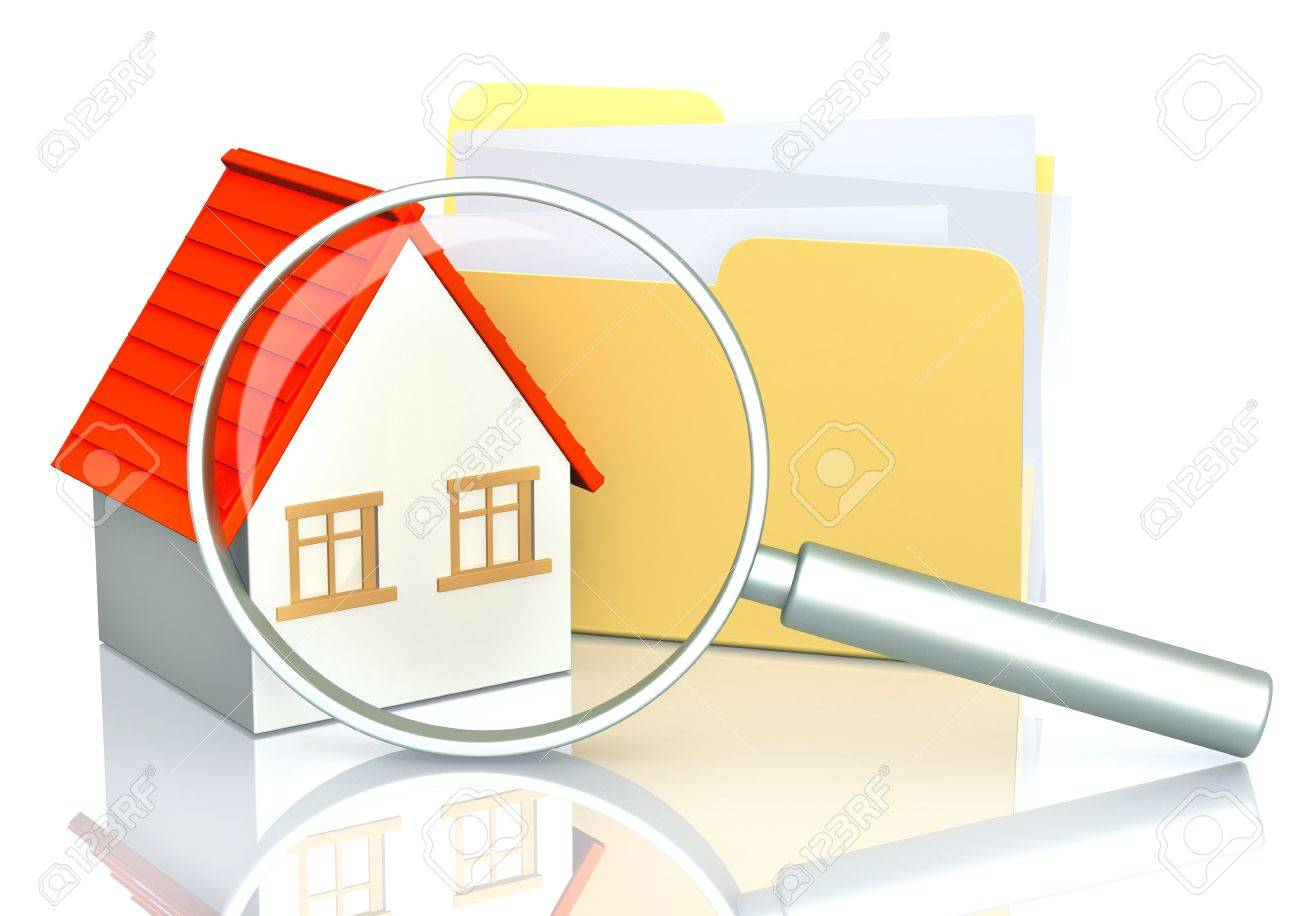 Conceptual image -  search of home Stock Photo - 10064178