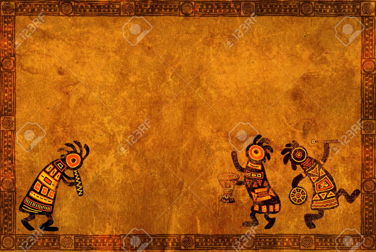Dancing musician background with african traditional patterns stock dancing musician background with african traditional patterns stock photo 10441156 toneelgroepblik Choice Image