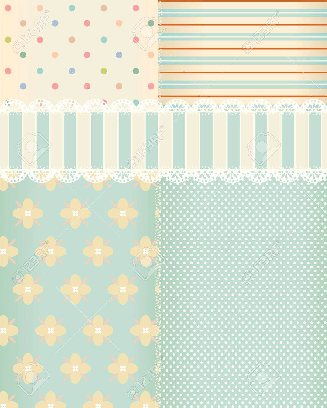 Vector background in style shabby chic Stock Vector - 11104719