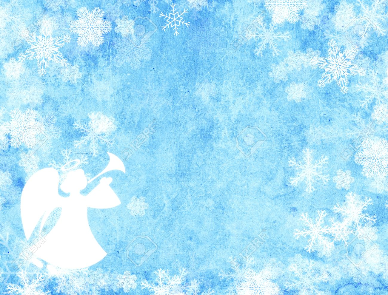 Christmas Grunge Background With Angel Stock Photo, Picture And ...