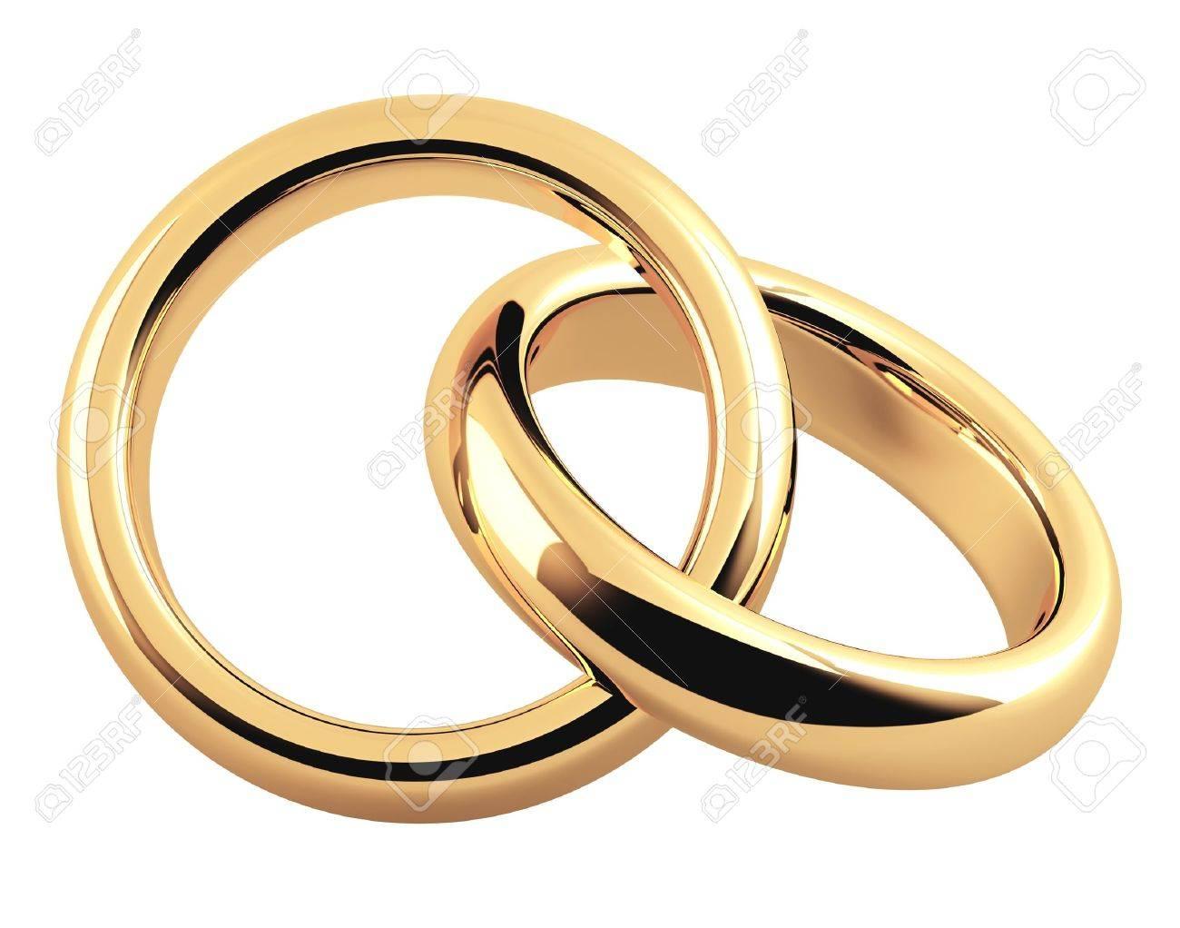 Deux bagues de mariage
