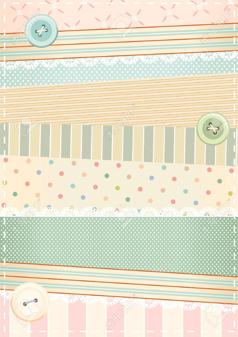 Background In Shabby Chic Style Stock Vector