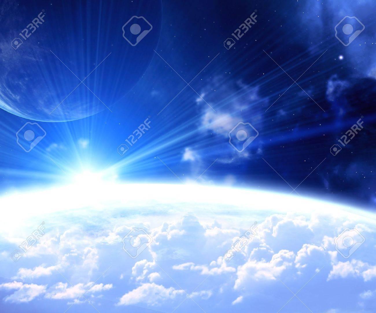 Fantastic beautiful space flare Stock Photo - 16075128