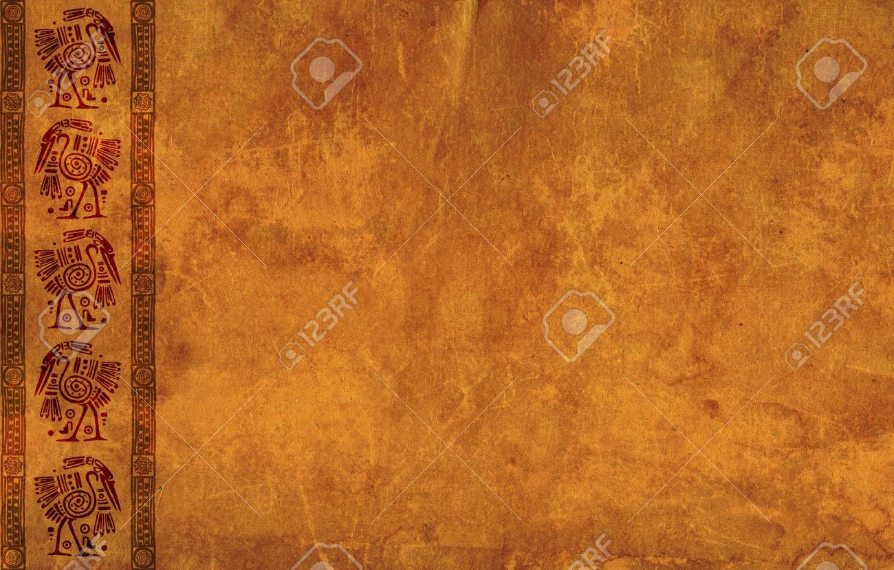 Background With American Indian Traditional Patterns Stock Photo   16075126
