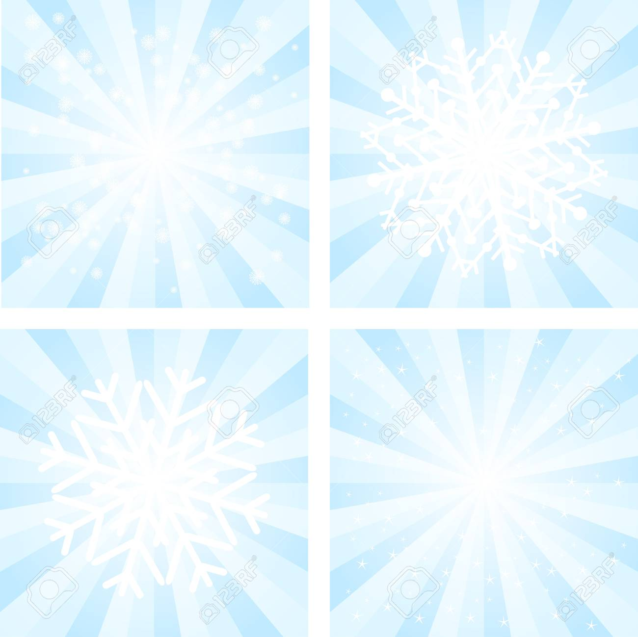 Collections of Christmas backgrounds with snowflakes Stock Vector - 16455560