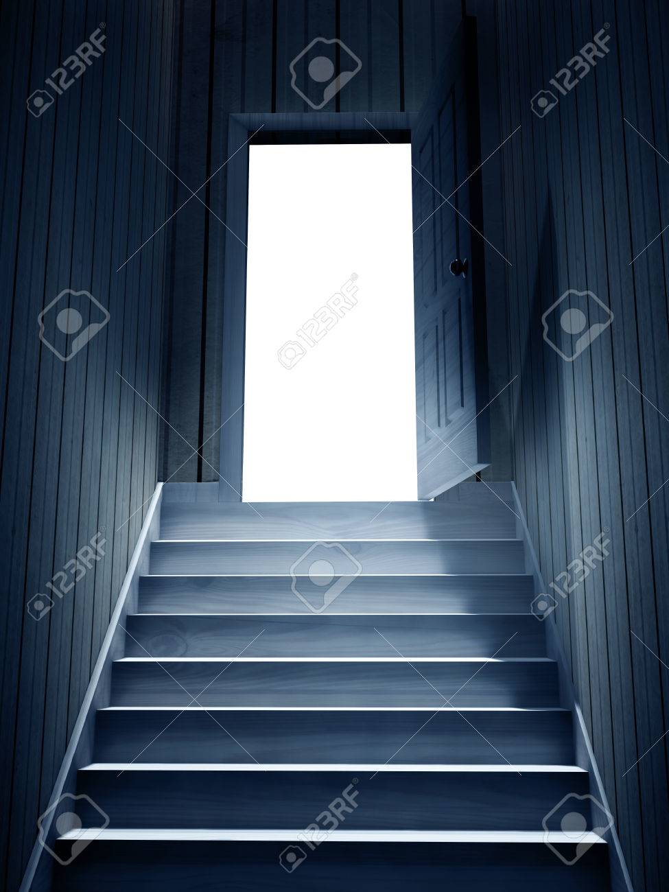 dark basement stairs. Steps leading from a dark basement to open the door 3d render Stock Photo  Leading From A Dark Basement To Open The Door Render Stairs Staircase jpgShepherd s Bush