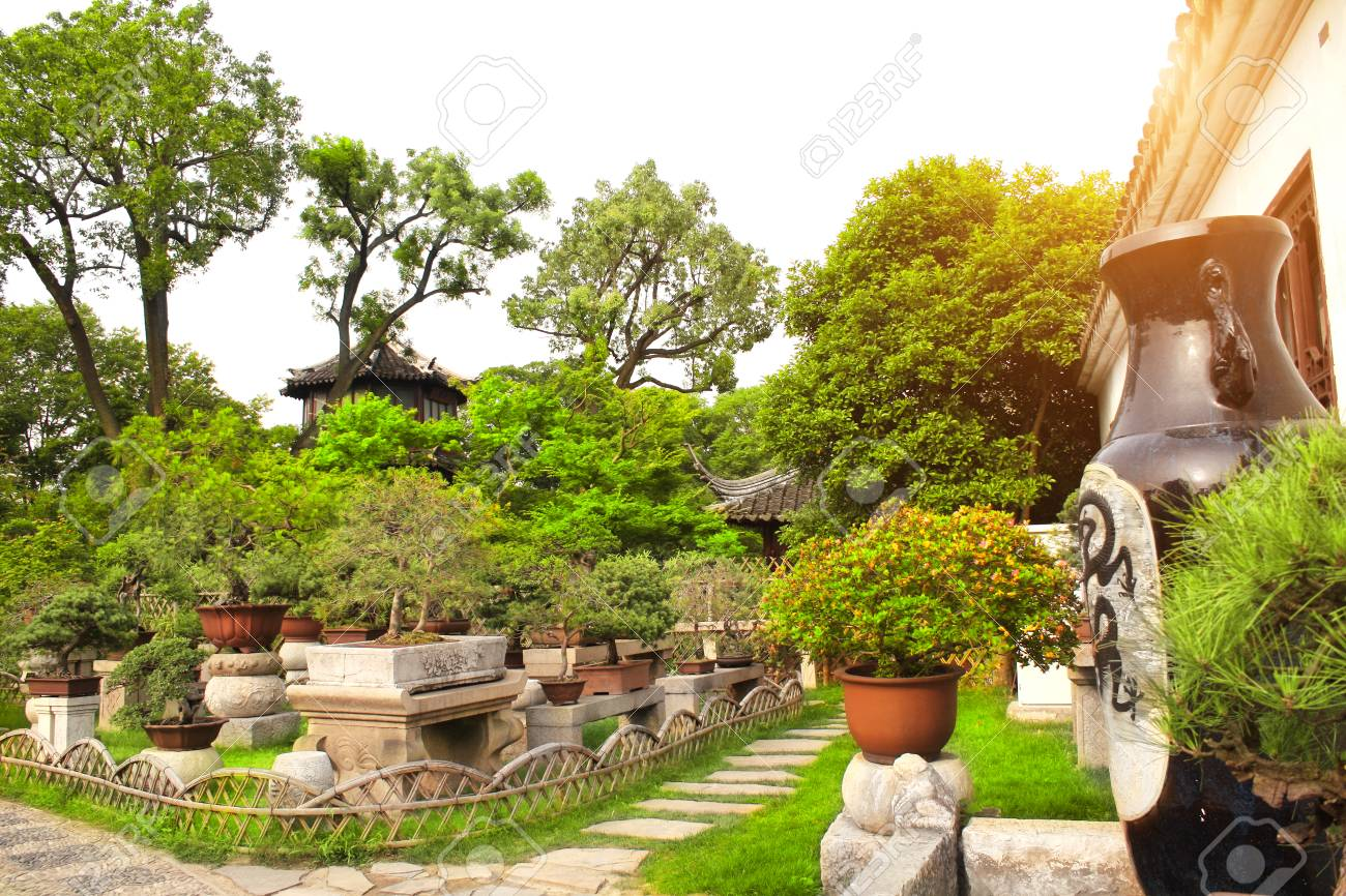 Garden Of Bonsai In Humble Administrator S Garden Suzhou China