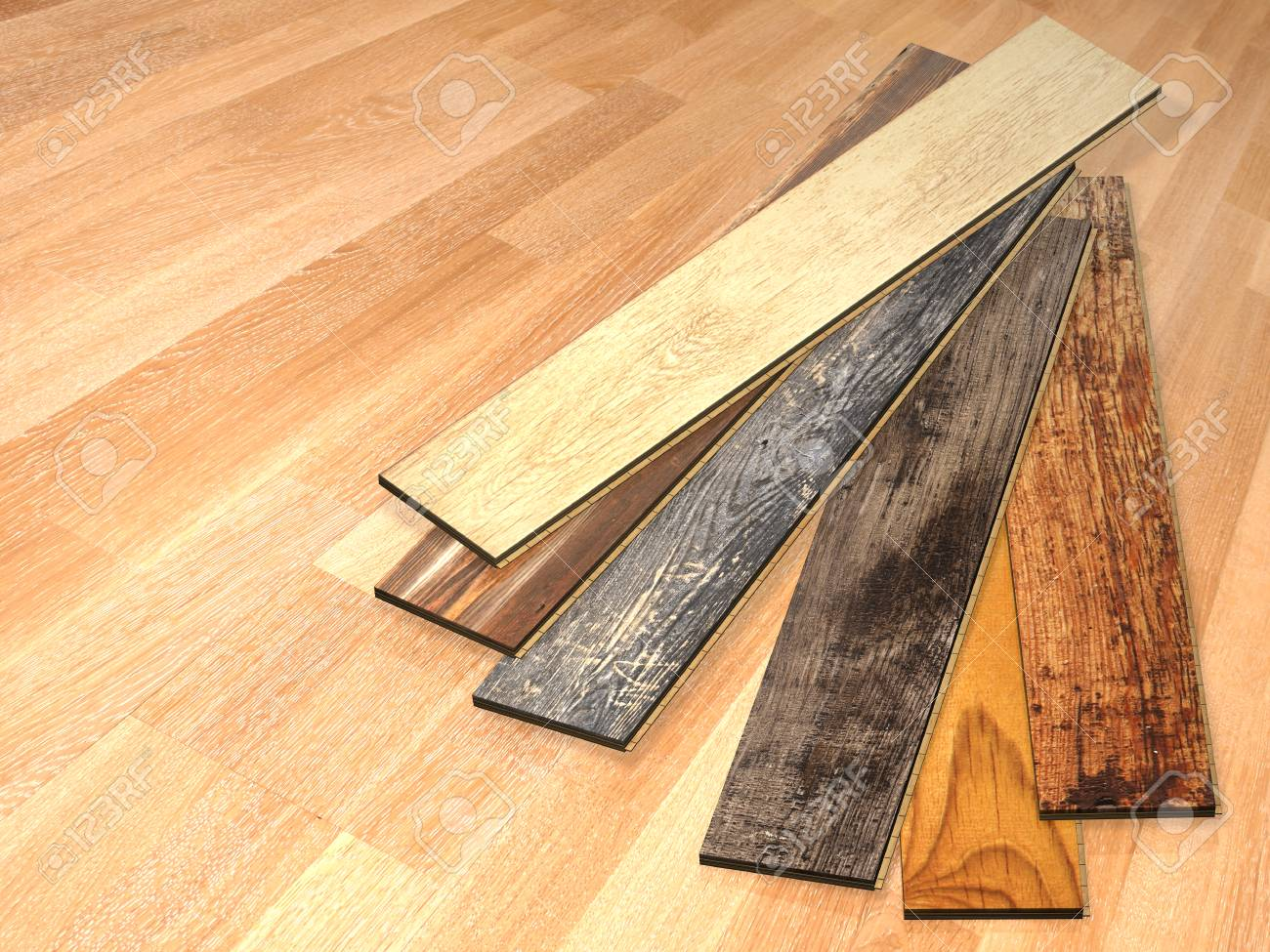 New Planks Of Oak Parquet Of Different Colors With Rustic Texture On