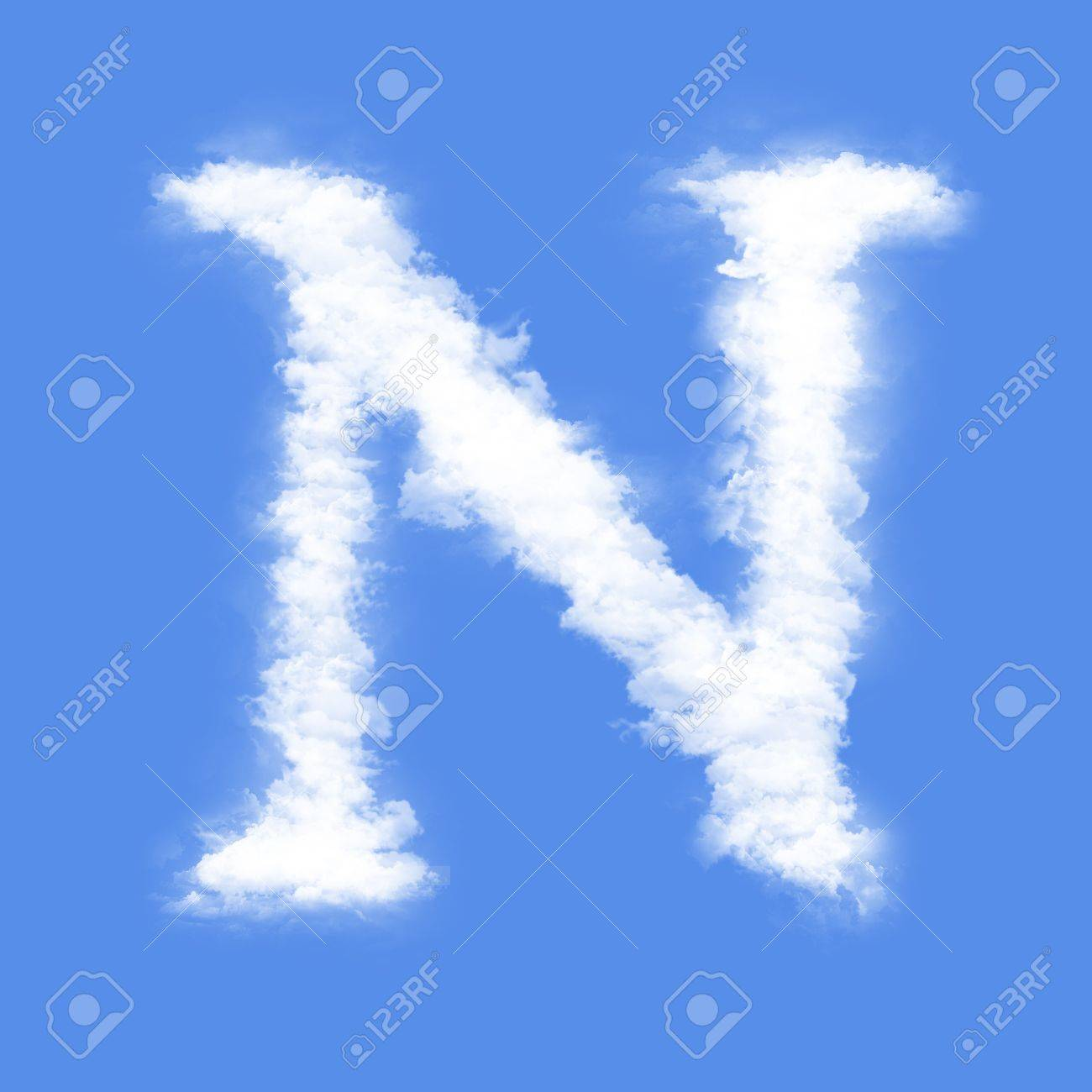 clouds in shape of the letter n stock photo 6994883