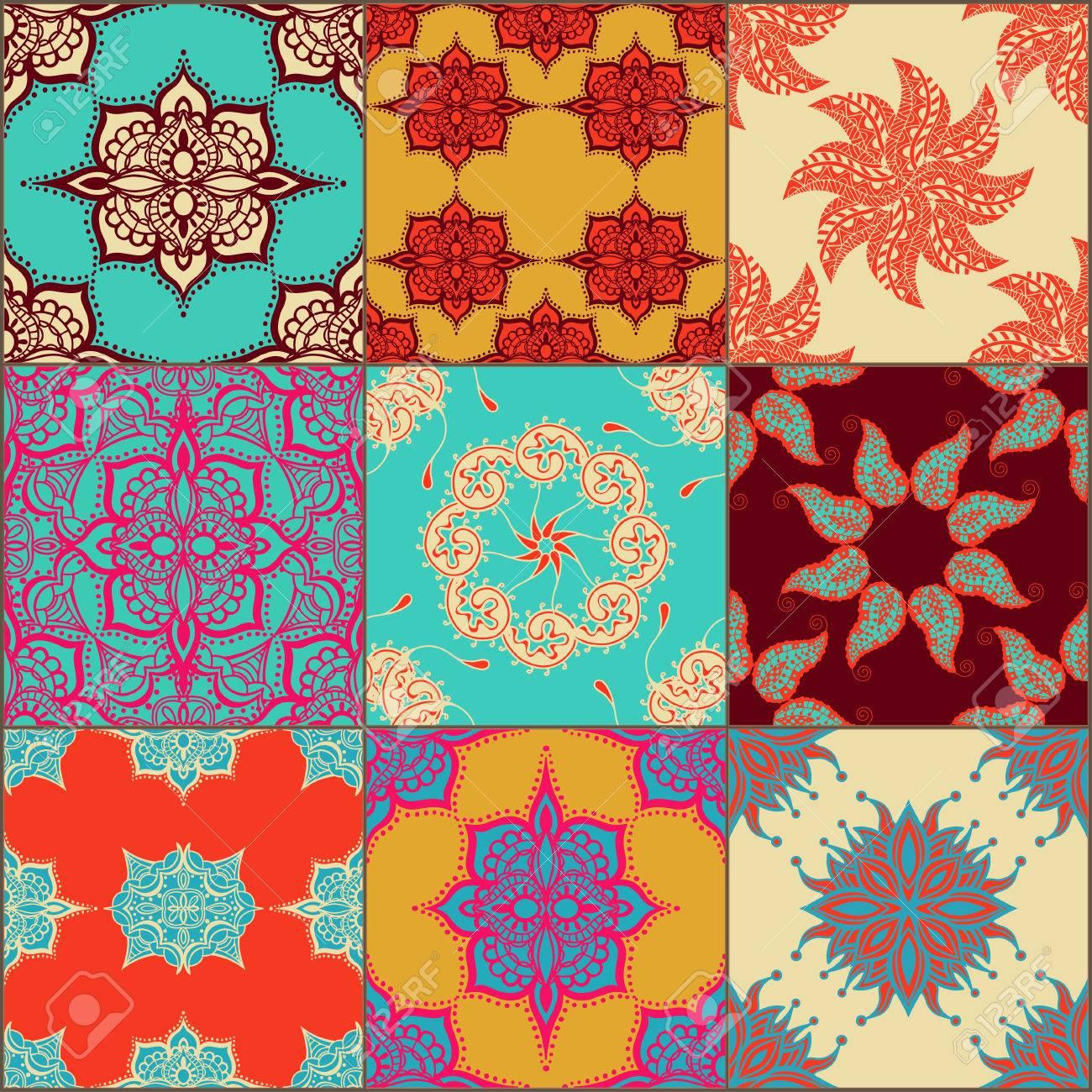 Glazed ceramic tiles set colorful vintage tiles with floral glazed ceramic tiles set colorful vintage tiles with floral and geometrical patterns spanish dailygadgetfo Gallery