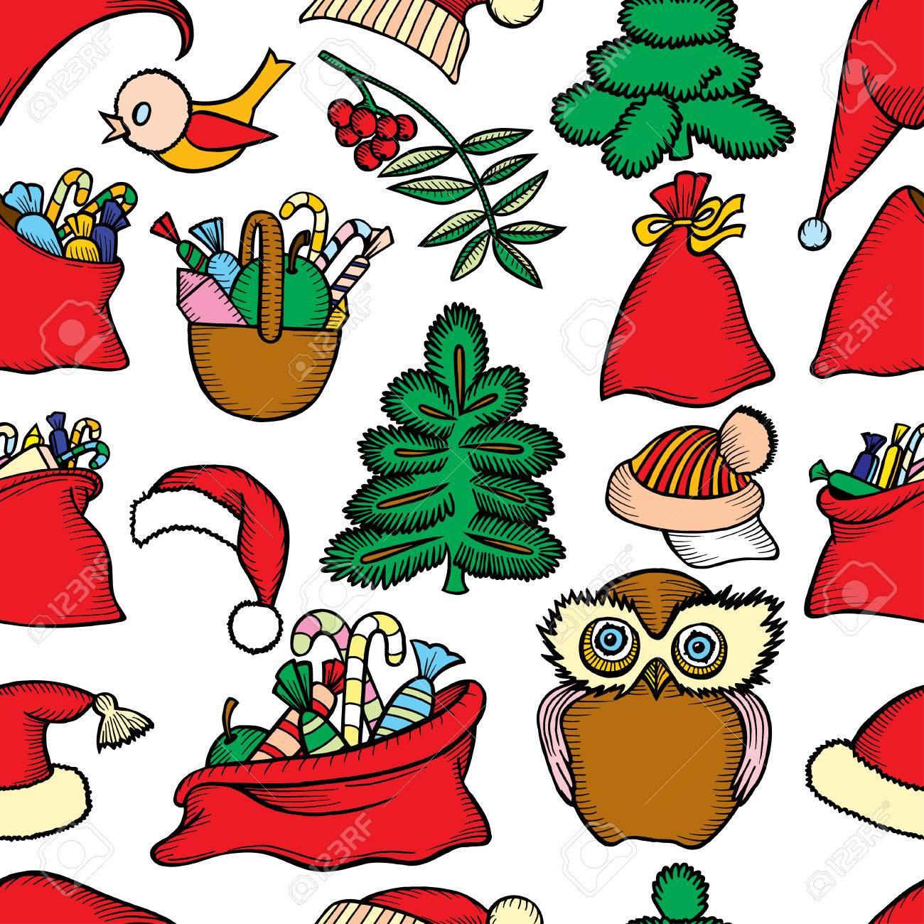 Reticolo Senza Giunte Di Natale. Icone Di Vacanza 2580596e8a6