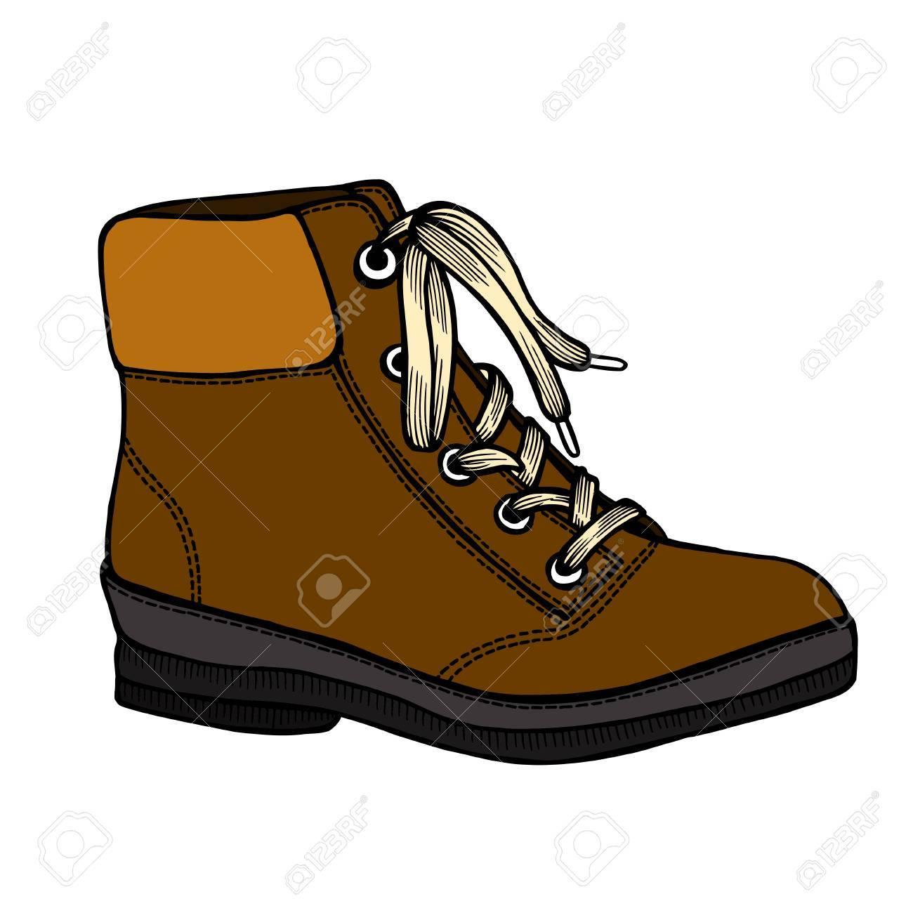 Chaussures de femmes d'hiver colorées, bottes. Dans le style des dessins au trait