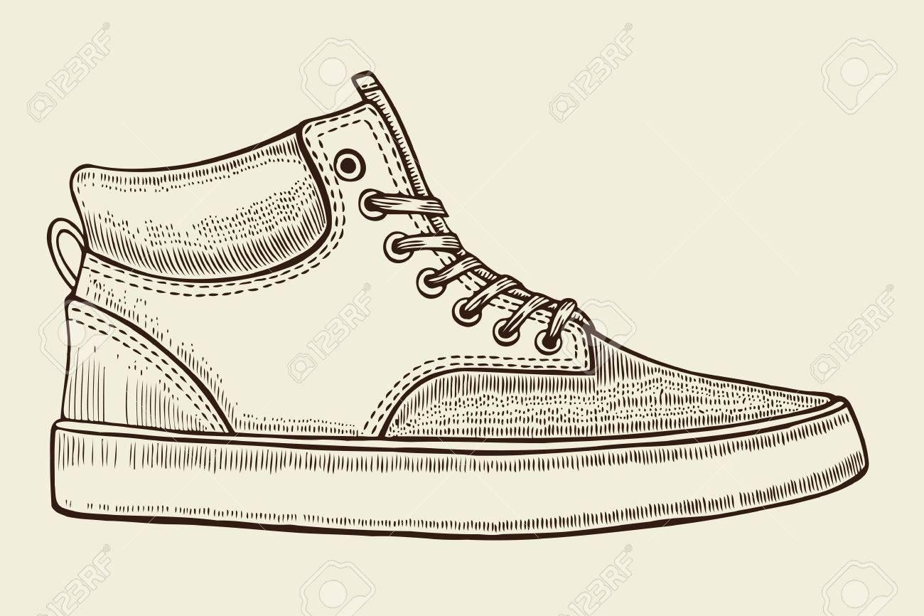 Pour L'étéVector Les Main IllustrationVêtements De Croquis Dessiné Et Hommes Des SportSport Chaussures xQCtsdhr