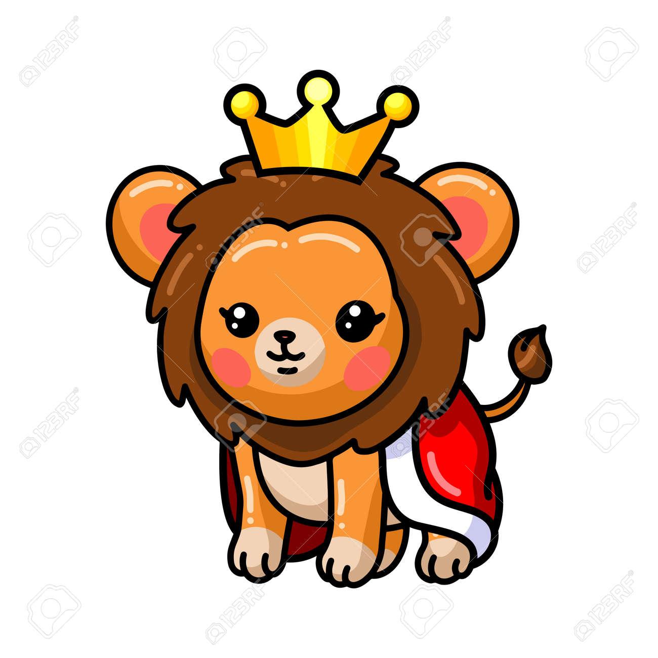 Cute baby lion king cartoon - 171450253