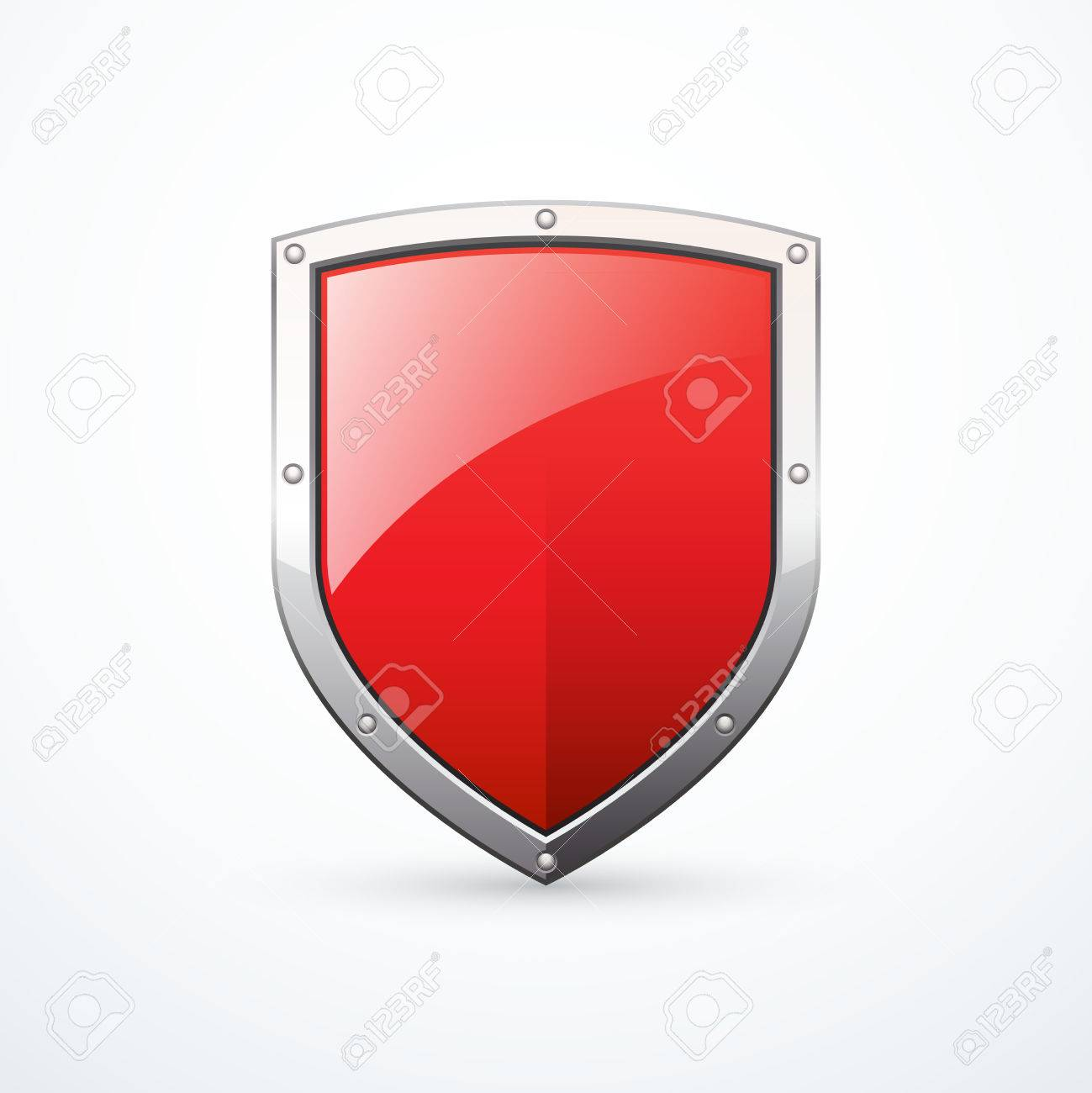 Vector red shield - 57999837