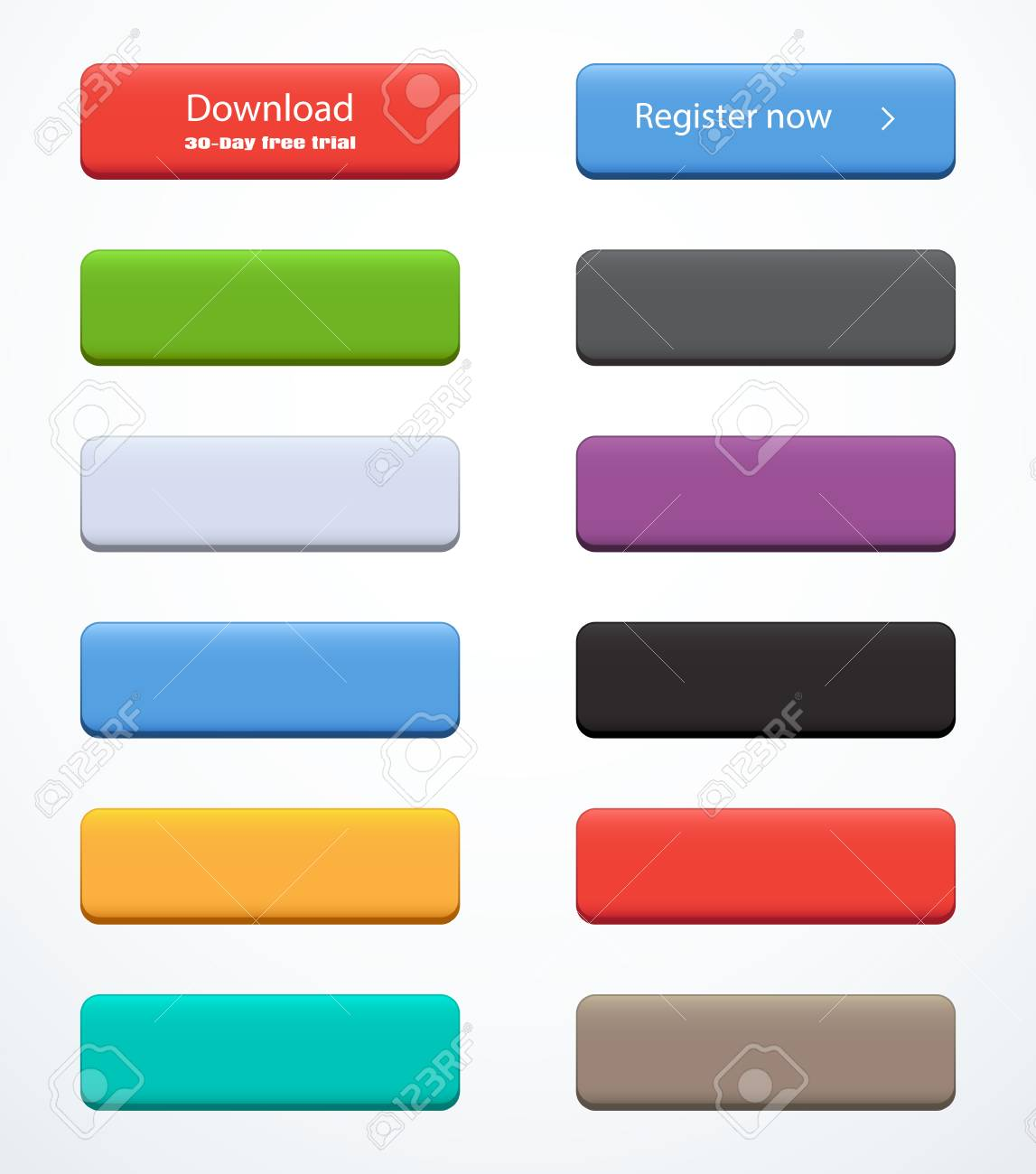 Set of rectangle buttons - 58641436