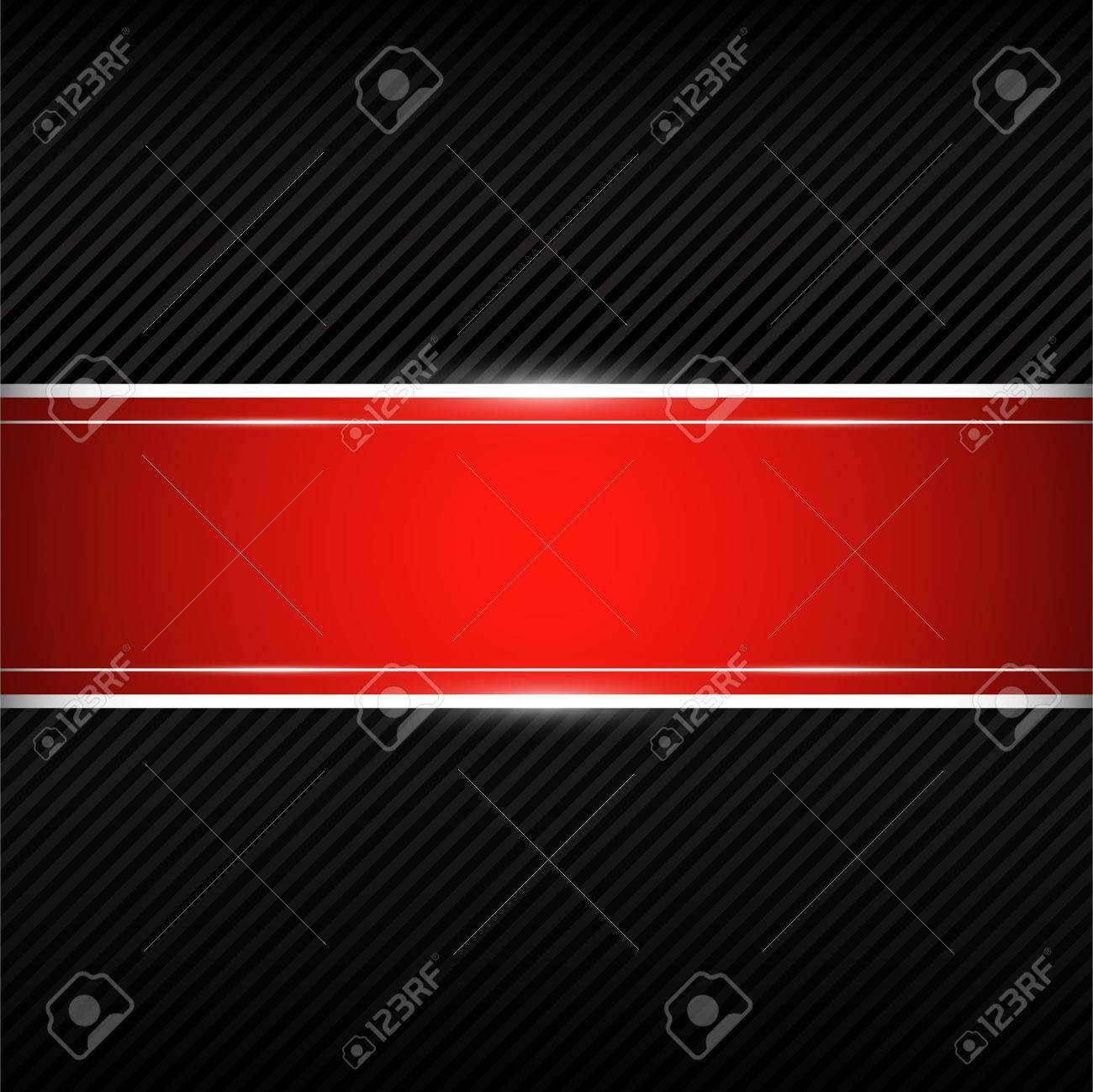 Black Background With Red Banner Stock Vector