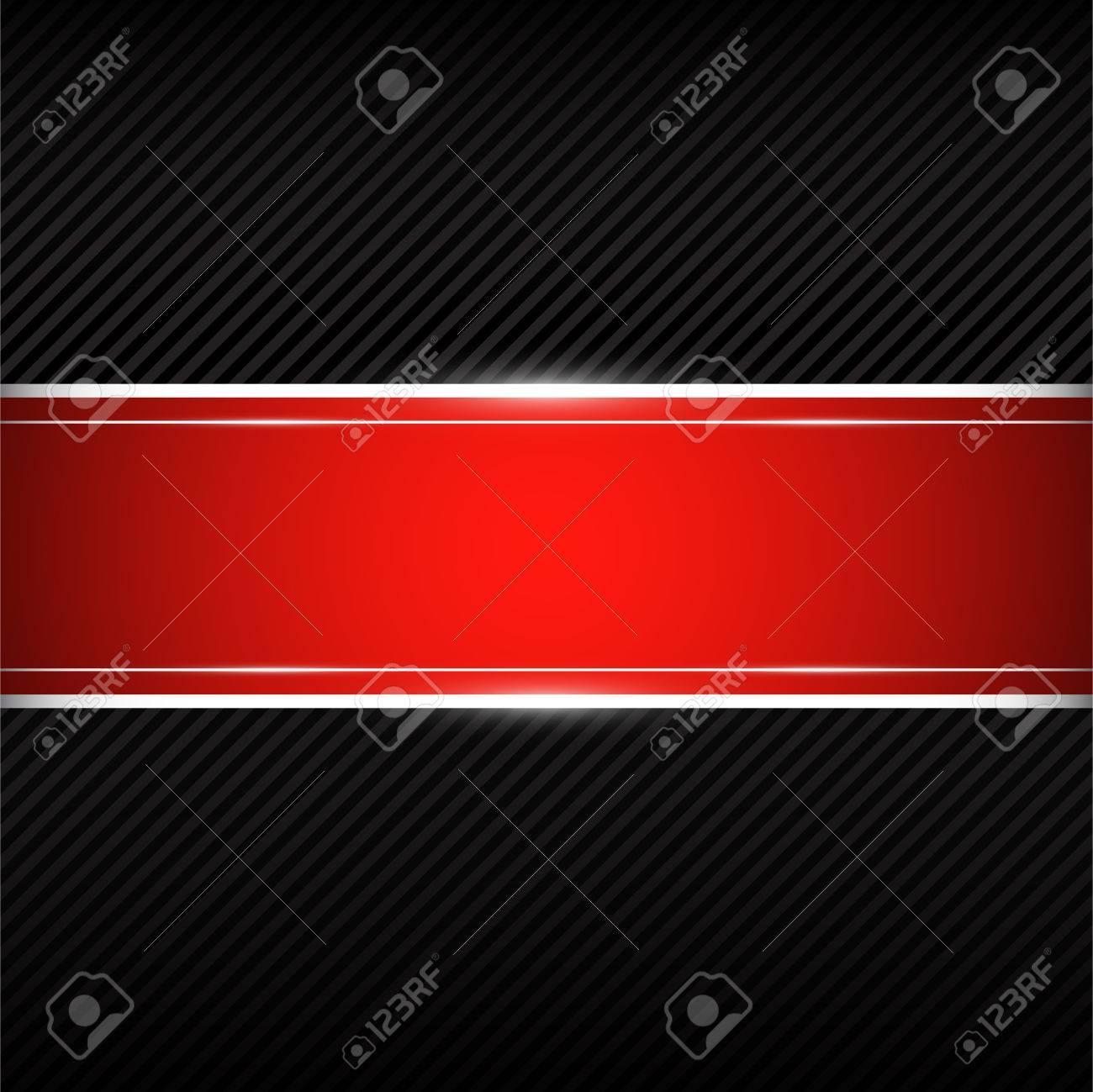 Connu Fond Noir Avec Bannière Rouge Clip Art Libres De Droits , Vecteurs  PK61