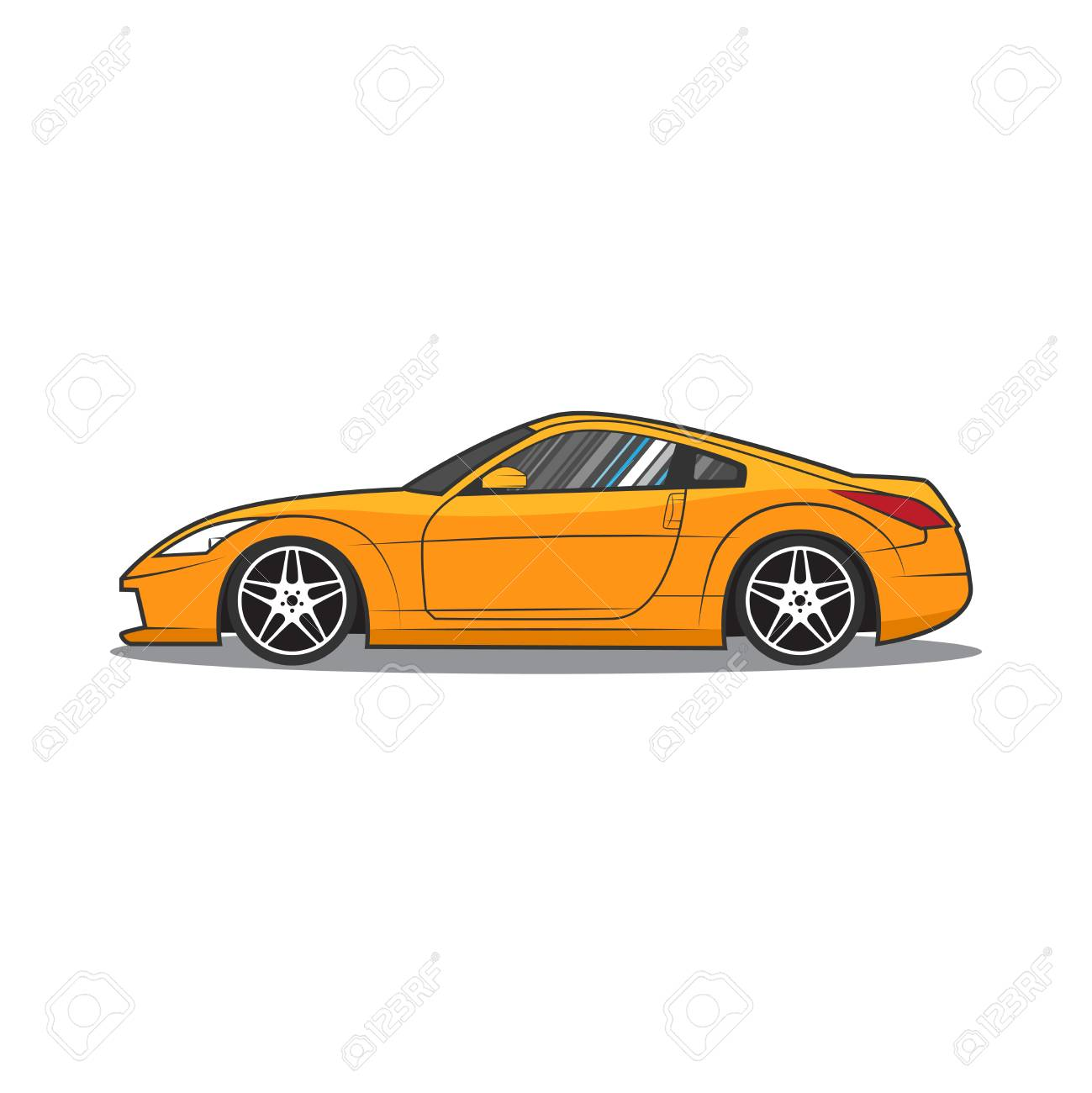 Sports Car Car Sketch Side View Royalty Free Cliparts Vectors