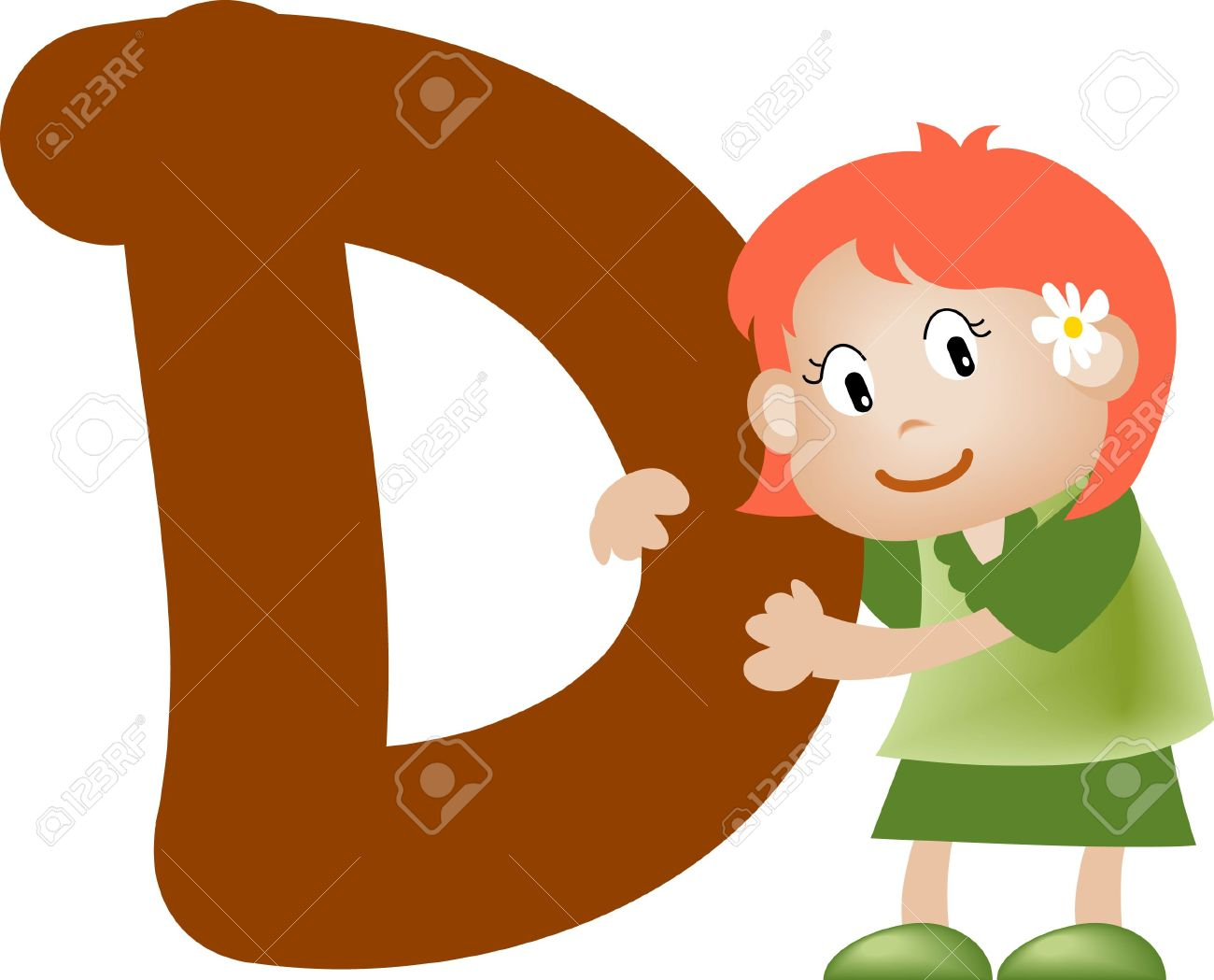 Girl with Alphabet letter d Stock Photo - 3207776